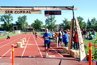 Stampede Road Race Finish line - 5K 10K 1:28:37 to 1:41:13 and HALF 1:57:42 to 2:11:10 clock time